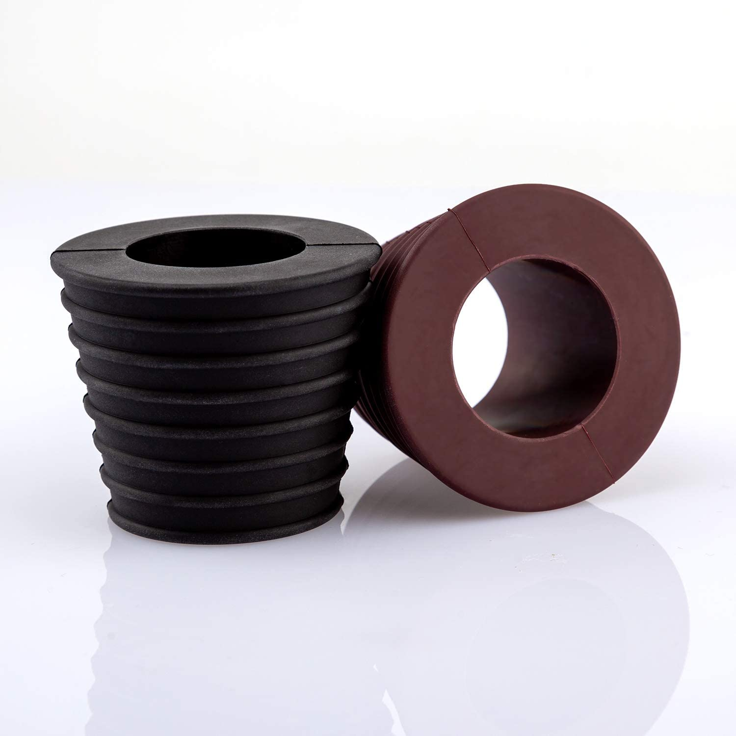 Dark Brown and Black AIEX 1.9 to 2.7 inch 2pcs Umbrella Cone Wedge Plug for Patio Table Hole Opening Umbrella Pole Diameter 1.5 Inch// 38mm