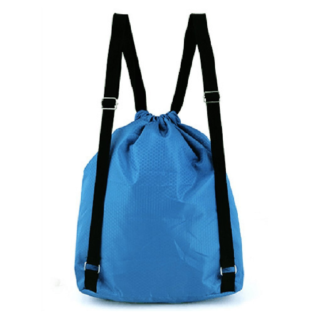 ec973fb3ec7e Amazon.com  Zmart Beach Backpack Portable Waterproof Gym Swim Pool  Drawstring Bag Blue