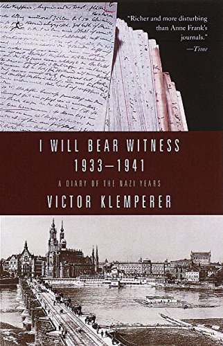 (I Will Bear Witness: A Diary of the Nazi Years, 1933-1941)