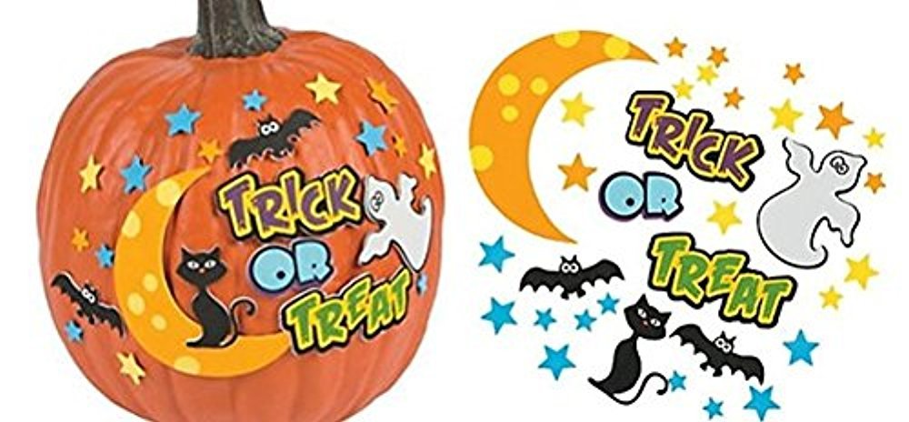 12 - Trick or Treat Pumpkin decorating craft kits import