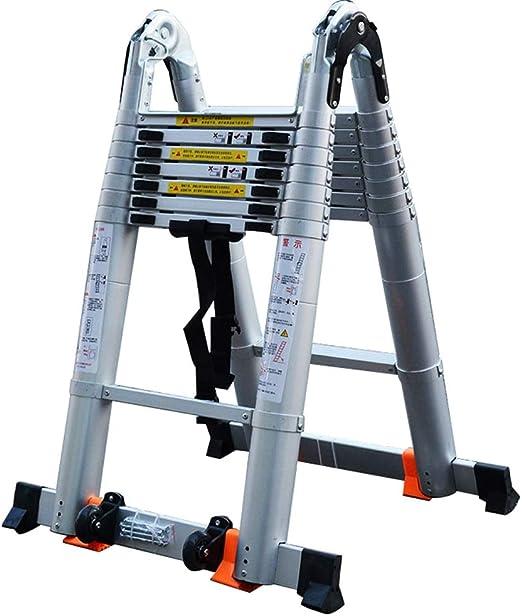 Escaleras telescópicas ZX EN131, con Barra Estabilizadora - Escaleras Extensión Aluminio para Actividades Aire Libre Hogar Escaleras para Trabajos Pesados, Capacidad 330 LB: Amazon.es: Hogar