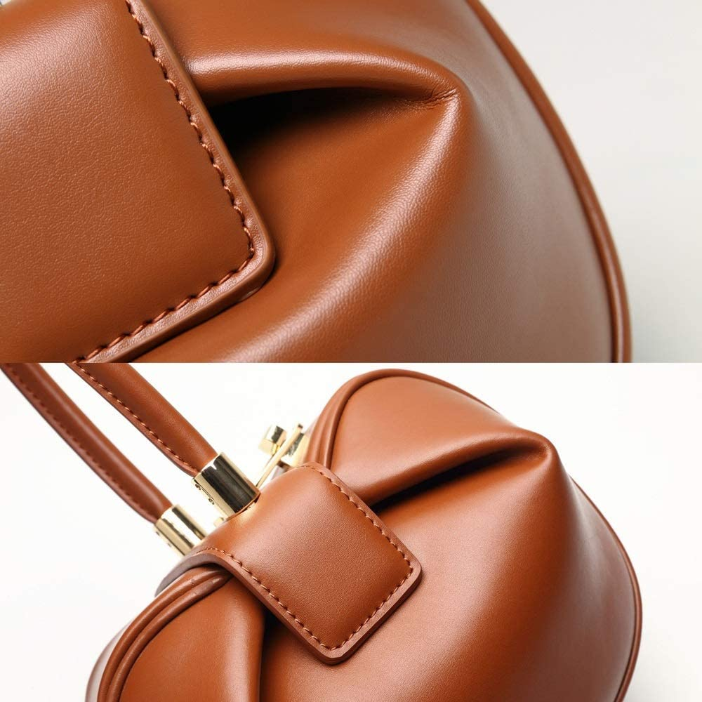 Color : White Fashion Vintage Tote Bag Europe and America Portable Dumplings Wonton Womens Evening Package Faux Leather//Microfiber 4 Colors Optional Shoulder Bags Shoulder Bag