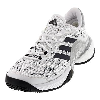 adidas Men's Barricade 2017 Boost White/Silver Metallic/Core Black 6.5 ...