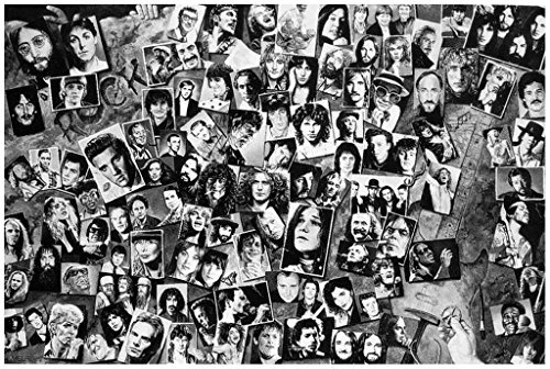 History of Rock & Roll (Collage) Music Poster Print Poster Poster Print, 36x24