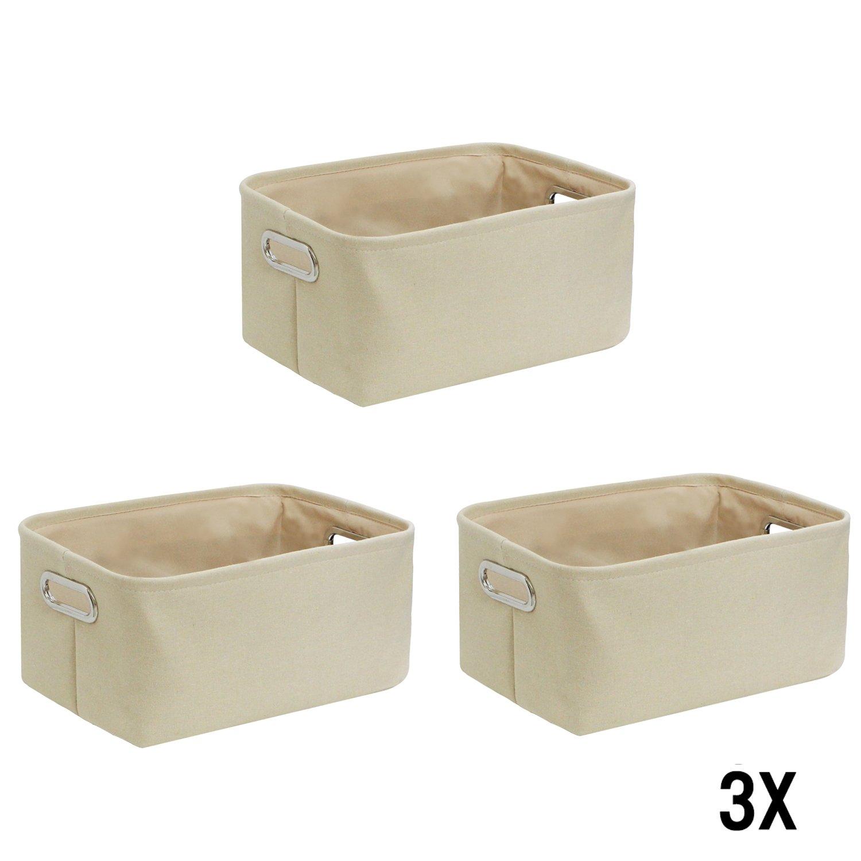 WM Homebase 3er Set Stoff Aufbewahrungskorb Aufbewarungsboxen Spielzeugkorb Organize in Grau rechteckig 35x25x16 cm