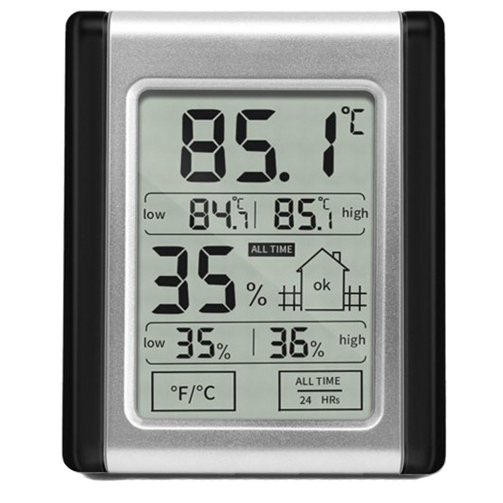Electronic Hygrometer & Thermometer, High-Low Double Display Touch-screen Digital Hygrothermograph, Wet Dry Comfort Weather Temperature Humidity Monitoring Testing Tool for Indoor Home Use
