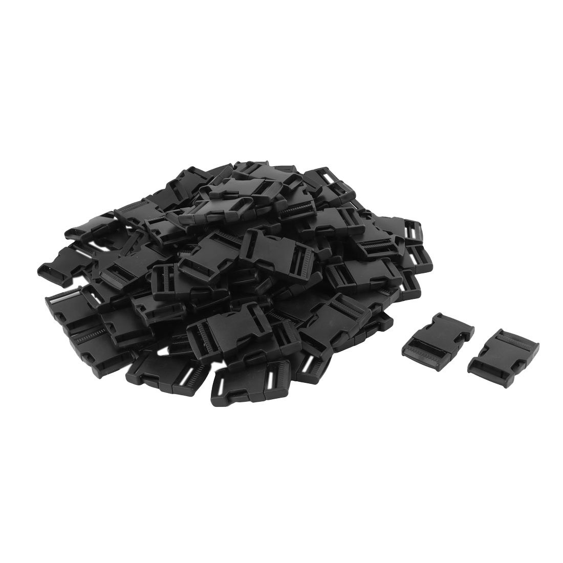 uxcell Plastic Packback Bag Accessory Webbing Adjustable Quick Release Buckle 100pcs Black