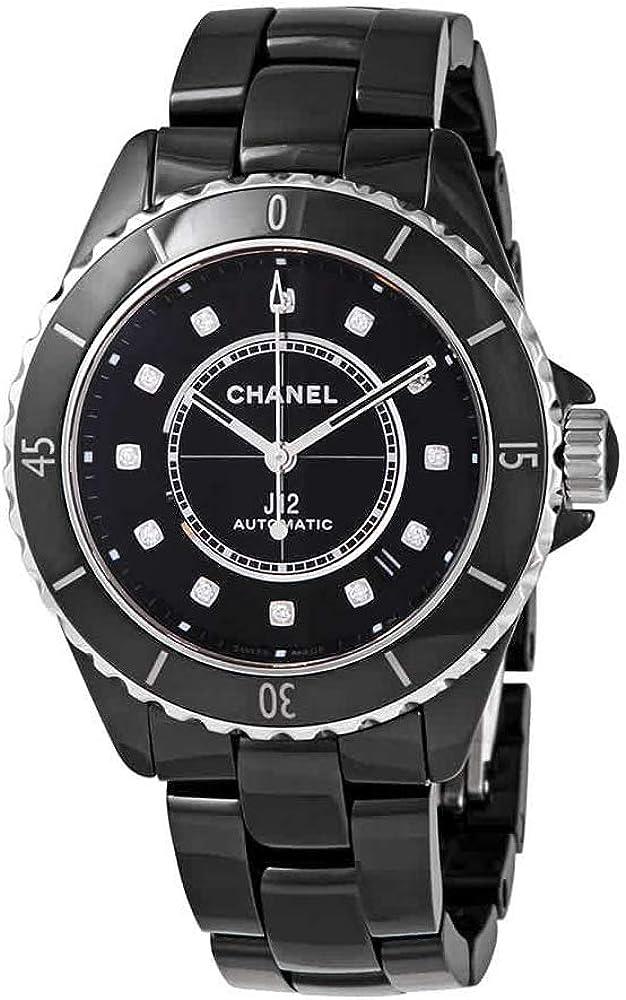 Chanel J12 H5702 - Reloj automático para mujer, esfera negra