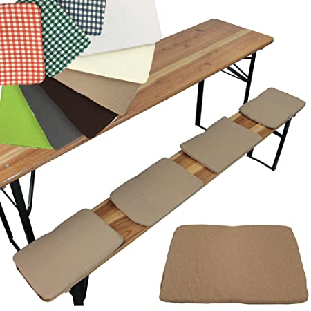 Beer Bench Seat Cushion Set Of 4 Seat Cushion 25 X 36 Cm Beer Bench