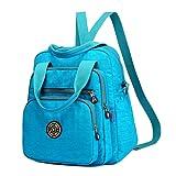 EasyHui Water Resistant Nylon Top Handle Bag Travel Backpack Large Capacity Shoulder Bag Three Ways of Carrying for Women