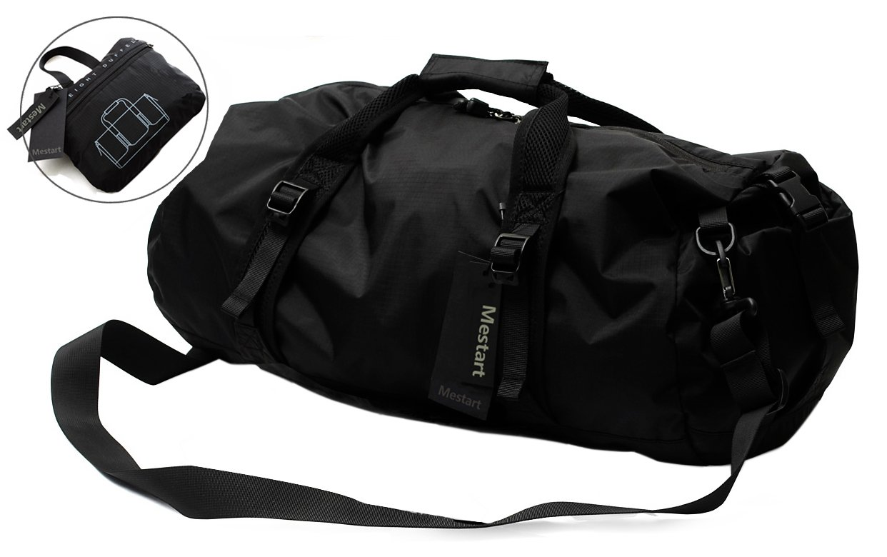 Foldable Duffel Bag, Mestart Waterproof Travel Luggage Gym Sports Shoulder Bag (Large)
