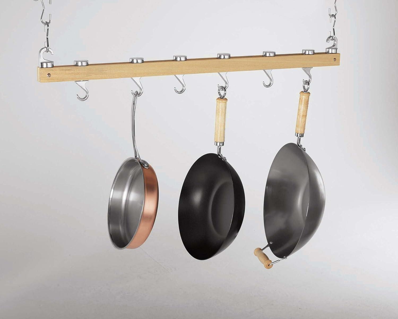 36-Inch Hardwood Hanging-Rack