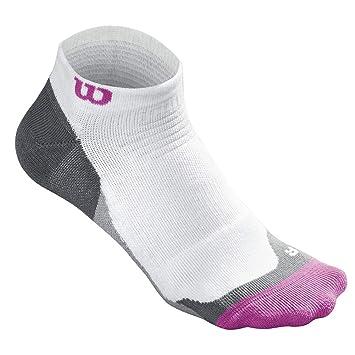 Wilson W Wht Hi-End No Show Calcetines de Tenis, Mujer, Blanco (White/Rose Violet), Talla Única: Amazon.es: Deportes y aire libre