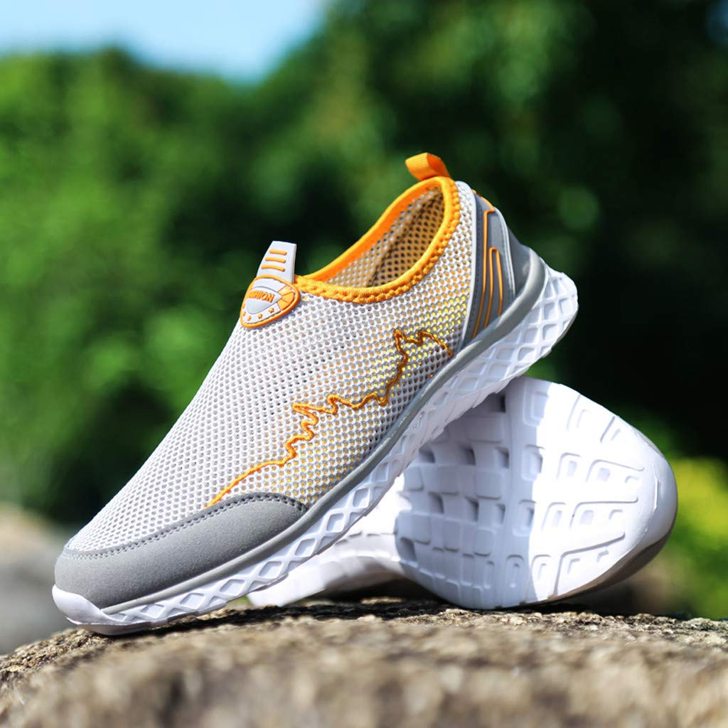 DATEWORK Couple Fashion Casual Mesh Shoes Outdoor Breathable Flat-Bottomed Sneakers