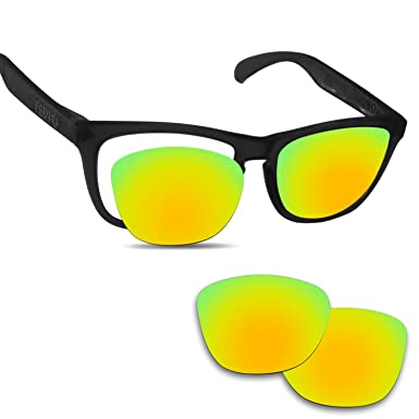 a6a8724299673 Image Unavailable. Image not available for. Color  Fiskr Anti-saltwater  Replacement Lenses for Oakley Frogskins Sunglasses ...