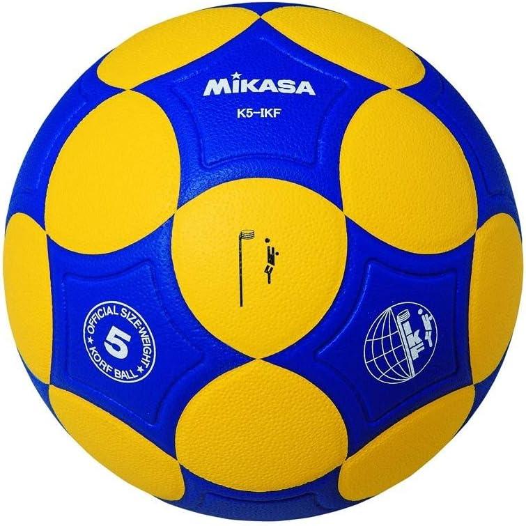 MIKASA Korfball K4-IKF - Pelota de Baloncesto, Color Amarillo/Azul ...