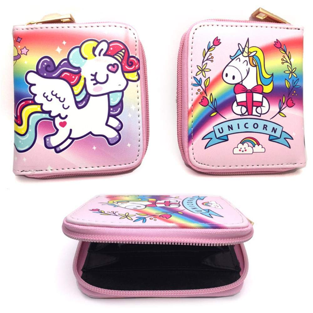 Billetera Wallet Purse Monedero Corto Unicornio Anime Rosado ...