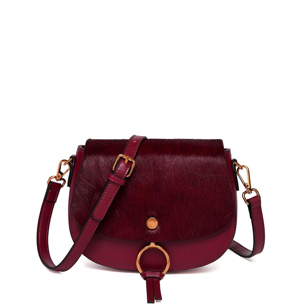 PeMe Crossbody Bag, Ladies' Shoulder Bag, Split Leather Handbags, Girls' Horsehair Purse