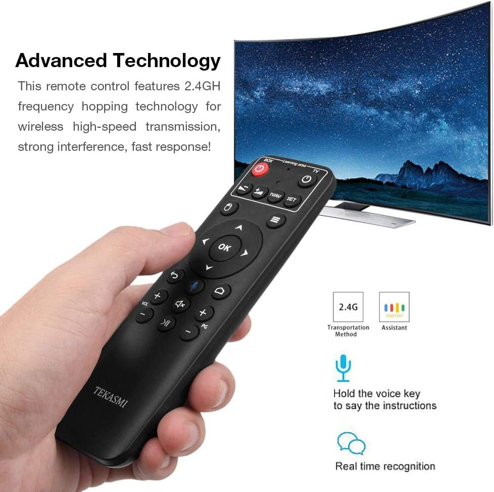 2.4G Mini Wireless Keyboard /& IR Learning Air Mouse Remote IPTV,Mini PC 6-Key for Android Smart TV Dailyfun Voice Remote Control IR Learning Air Mouse