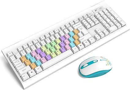 ERKEJI Teclados Teclado inalámbrico ratón combinación G 2 ...