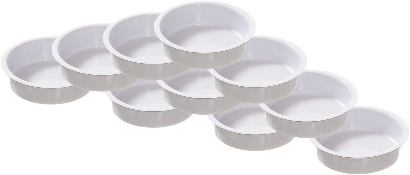 /Bougeoir Bougie Chauffe-plat Douille pour Standard Bougies Photophore blanc 40/mm plat/ Lot de 4