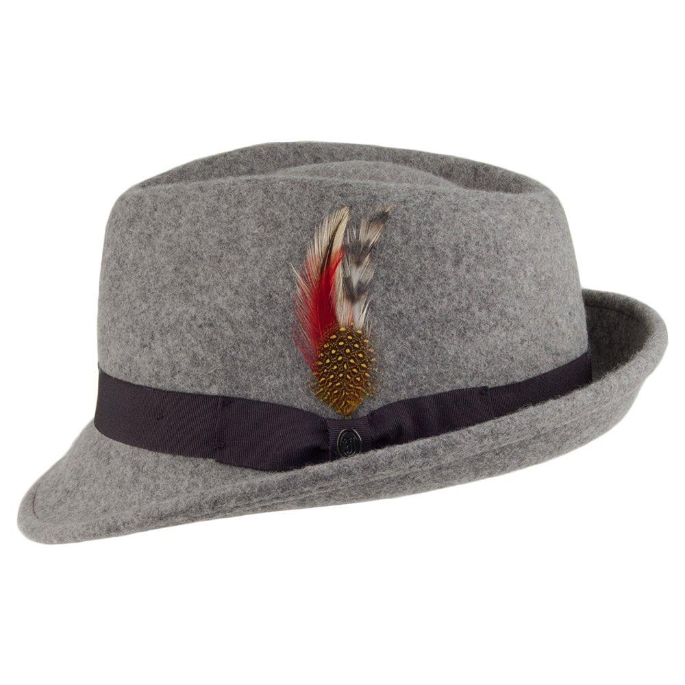 b6fe4346a58401 Jaxon & James Detroit Trilby Hat - Flannel: Amazon.co.uk: Clothing