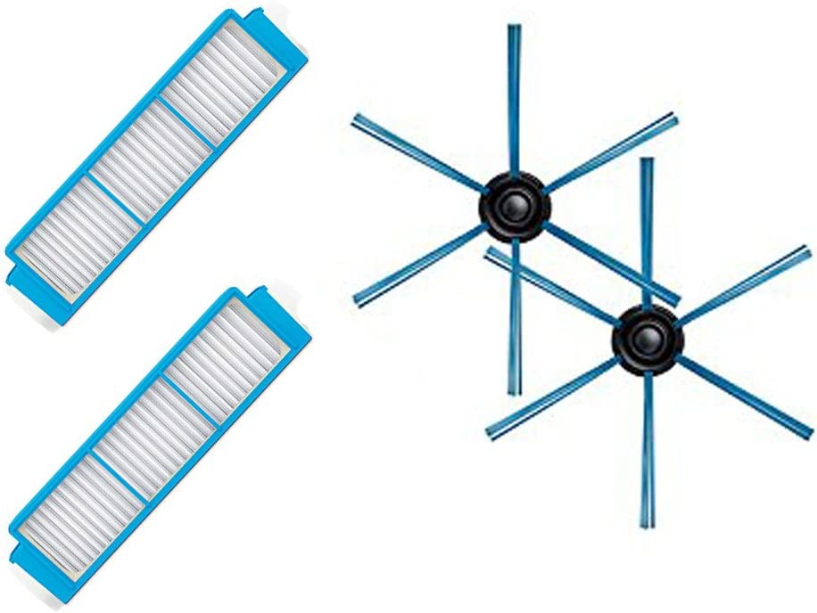 LICR para aspiradora Philips Robot FC8796 FC8794 FC8792 Filtro HEPA&cepillo lateral&filtros de repuesto: Amazon.es: Hogar