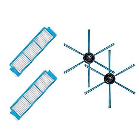 LICR para aspiradora Philips Robot FC8796 FC8794 FC8792 Filtro HEPA&cepillo lateral&filtros de repuesto