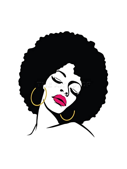 Amazon Painting Woman With Afro Hairstyle Lipstick Art Frame