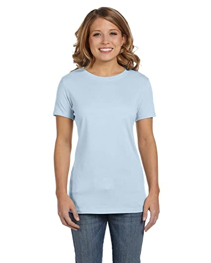 b2d57ec38ee Clementine Womens Jersey Short-Sleeve T-Shirt-PALE BLUE-2XL at ...