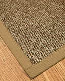 NaturalAreaRugs Mayfair Area Rug Natural Seagrass Hand-Crafted Khaki Wide Canvas Border, 8' x 10'