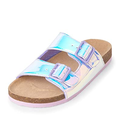 d5b0f1c42e4c4 Amazon.com | The Children's Place Kids' Holographic Double Buckle ...