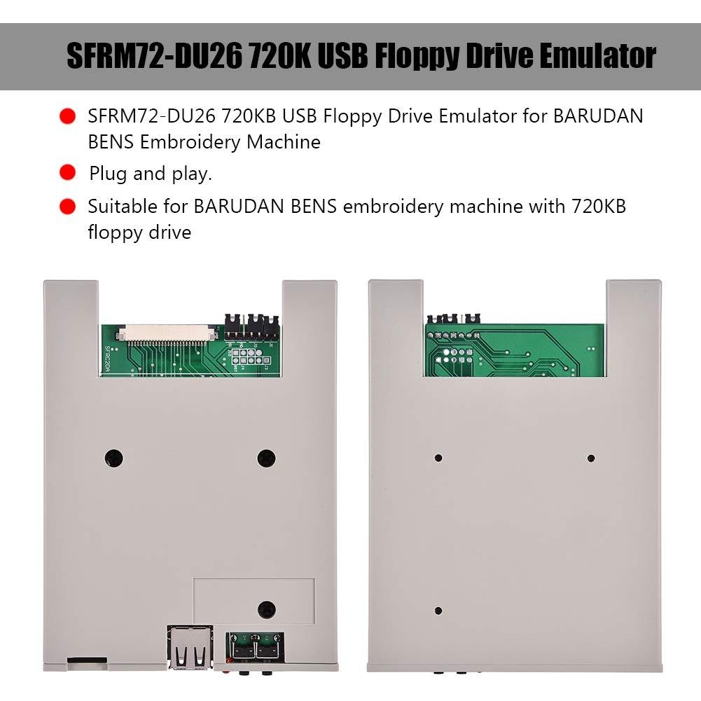 Emulador de Disquetera USB, asixxx sfrm72-du26 720 K emulador de Unidad Floppy USB para Máquina de Bordar Barudan Bens: Amazon.es: Electrónica
