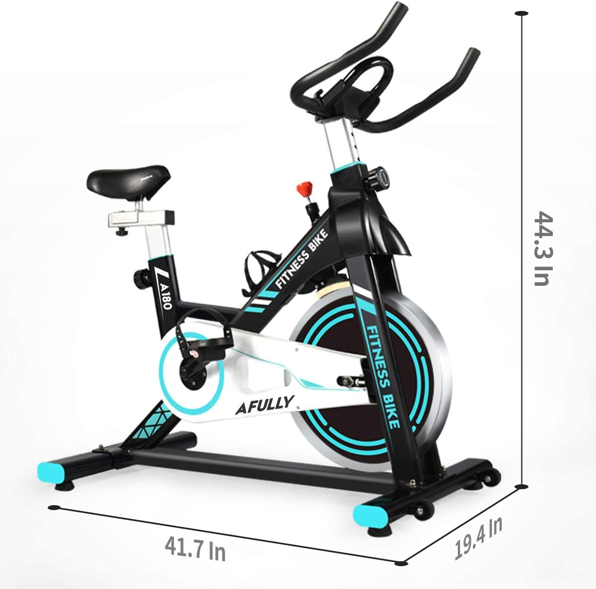 Indoor Cycling Stationary Bike Belt Drive with Adjustable Resistance Pad//Phone Holder LCD Monitor Afully Indoor Exercise Bike Comfortable Cushion Stable and Quiet for Home Cardio Workout A180