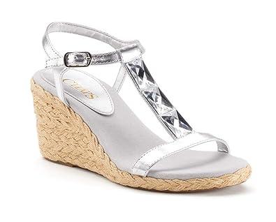 823ee1cd270 Chaps Dela Women Espadrille Wedge Sandals