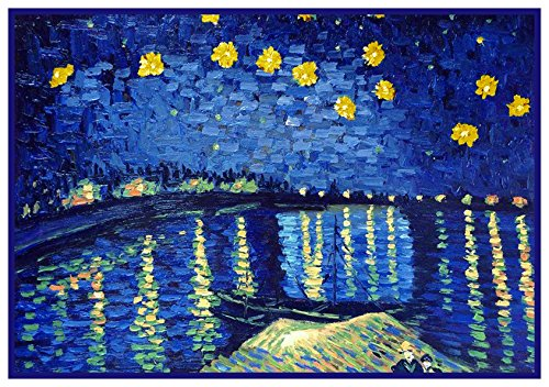 (Orenco Originals Starry Night Over The Rhone by Van Gogh Counted Cross Stitch Pattern)
