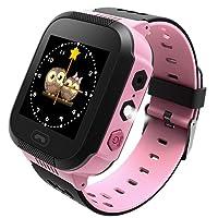 Ownsig-Reloj Inteligente para niños, rastreador GPS para niños niñas cumpleaños con cámara SIM Llamadas Anti-pérdida SOS Smartwatch Pulsera para iPhone Android Smartphone-Rosa