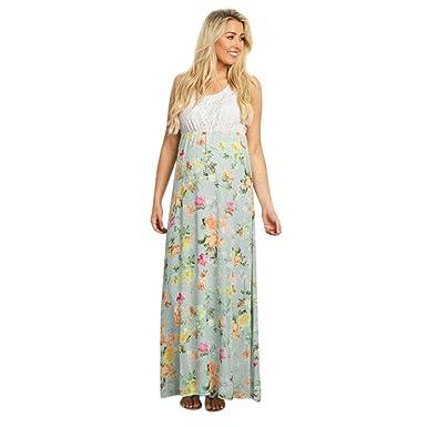 URSING_Damen Kleider Elegant Umstandskleid Schwangerschaftskleid O ...