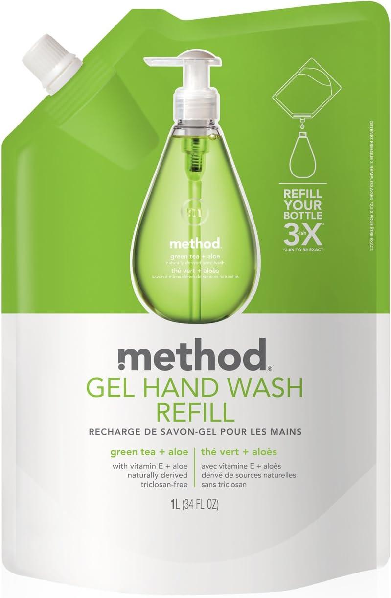 Method Gel Hand Soap Refill, Green Tea + Aloe, 34 Ounce