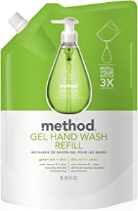 Method Gel Hand Soap Refill, Green Tea + Aloe, 34 Ounce