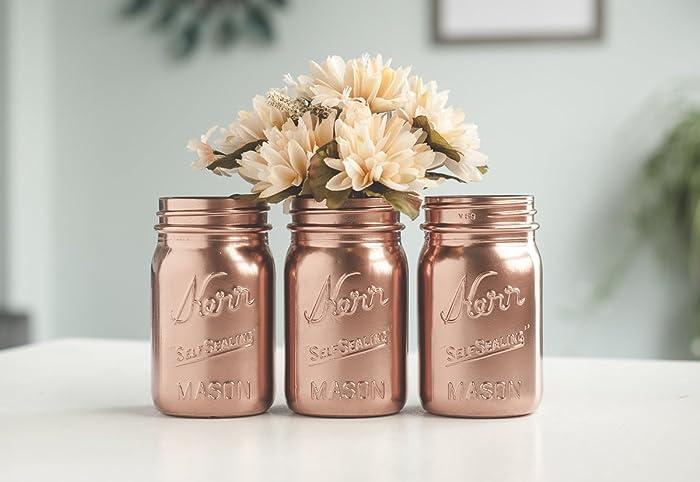 Amazon Rose Gold Vases Pint Mason Jars Rose Gold Wedding