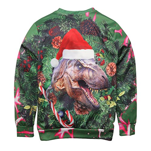 Feo dinosaur Z Sudaderas Jersey Impreso Unisex 3d Navidad Camiseta Uideazone twnS6q88