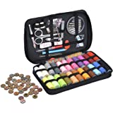 Premium Sewing Kit Set with Over 100 Supplies, Including 24-Color Threads 35pcs Sewing Needles, 30pcs Vintage Style Buttons etc, Mini Travel sewing kit, Beginners Sewing Kit, Emergency Sewing Kit