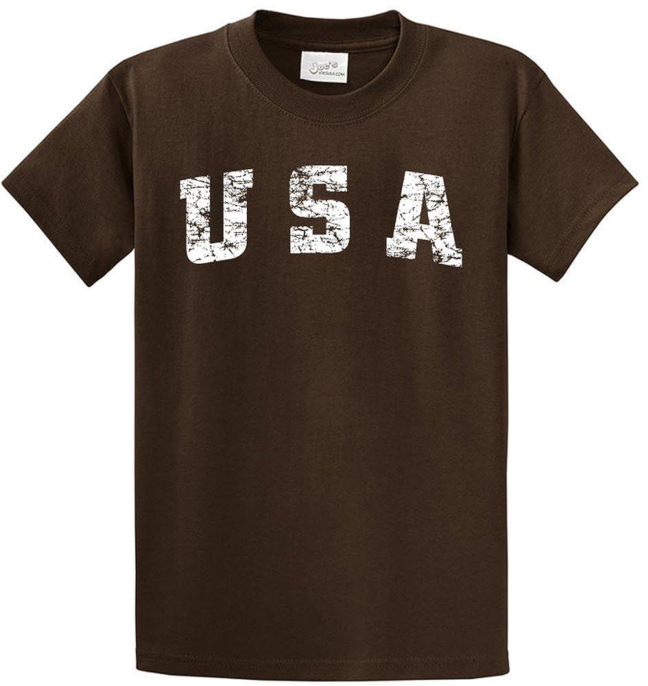 Joe's USA Vintage USA Logo Tee Tee's in 42 Colors and Regular, Big and Tall Sizes USALC03062015807