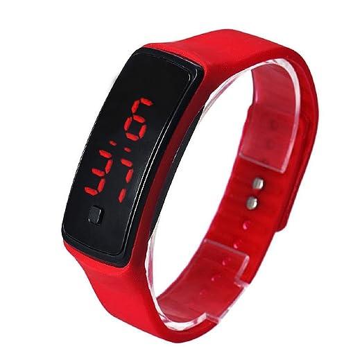 Digital LED Reloj de pulsera - SODIAL(R)Moda Ultra-delgada chica hombres
