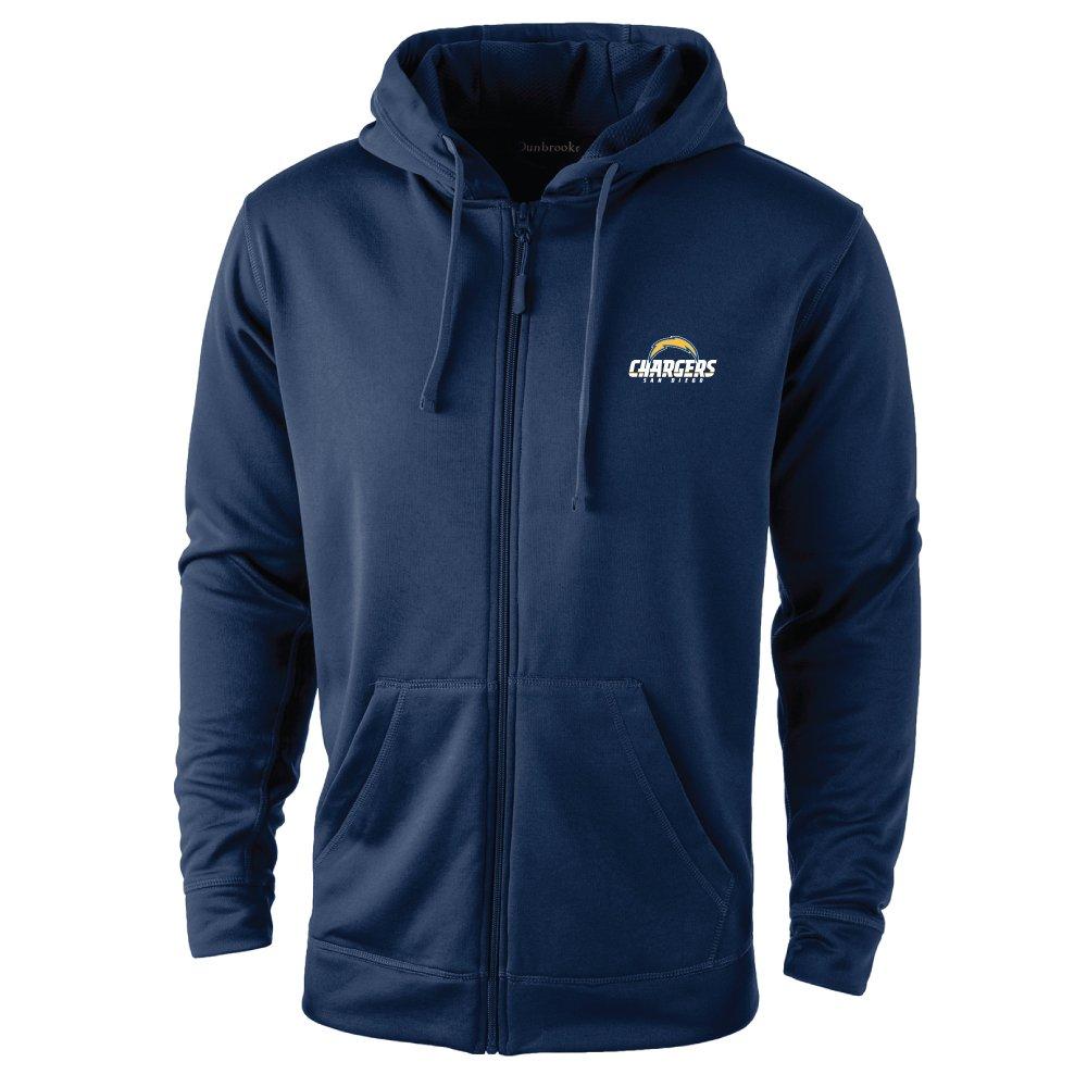 9d8aca4b32 NFL San Diego Chargers adult Trophy Polyester Tech Fleece Full Zip Hoodie