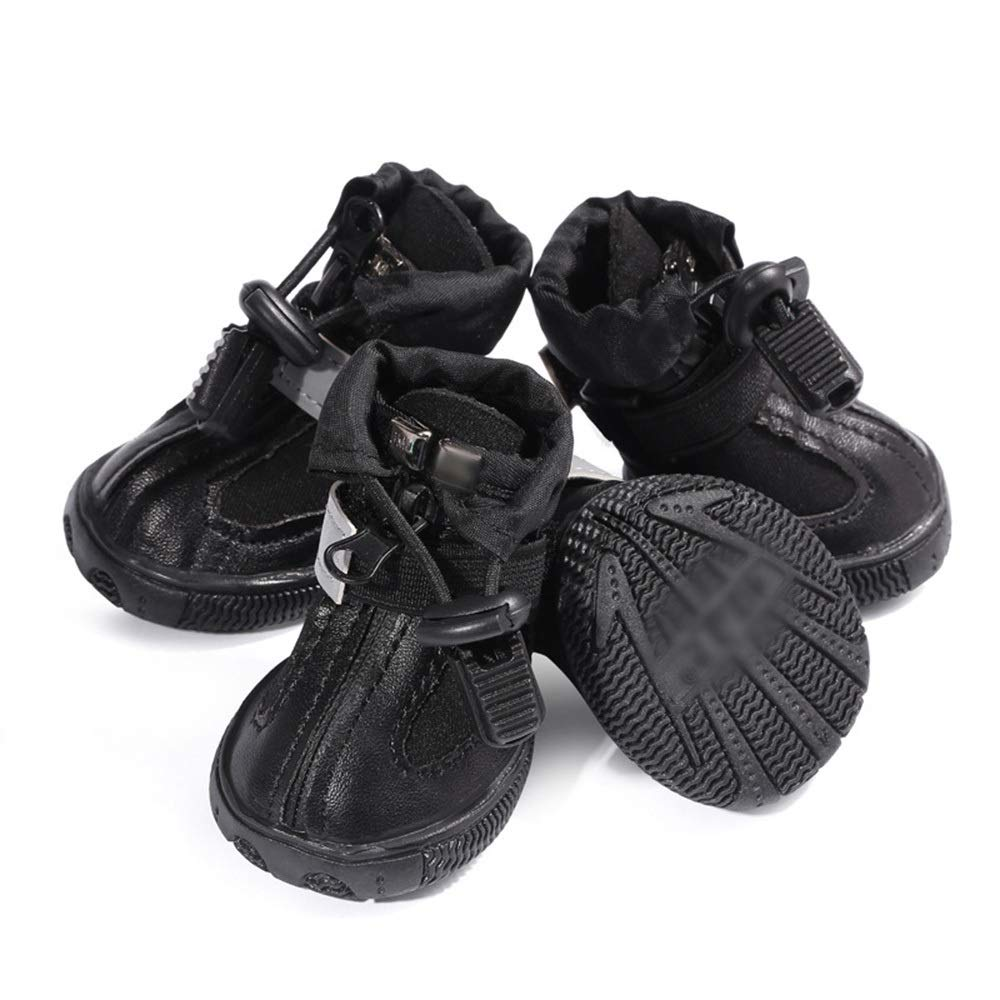 Black 3 AUSWIEI Simple and Comfortable Diving Fabric Dog shoes Pet shoes (color   Black, Size   3 )