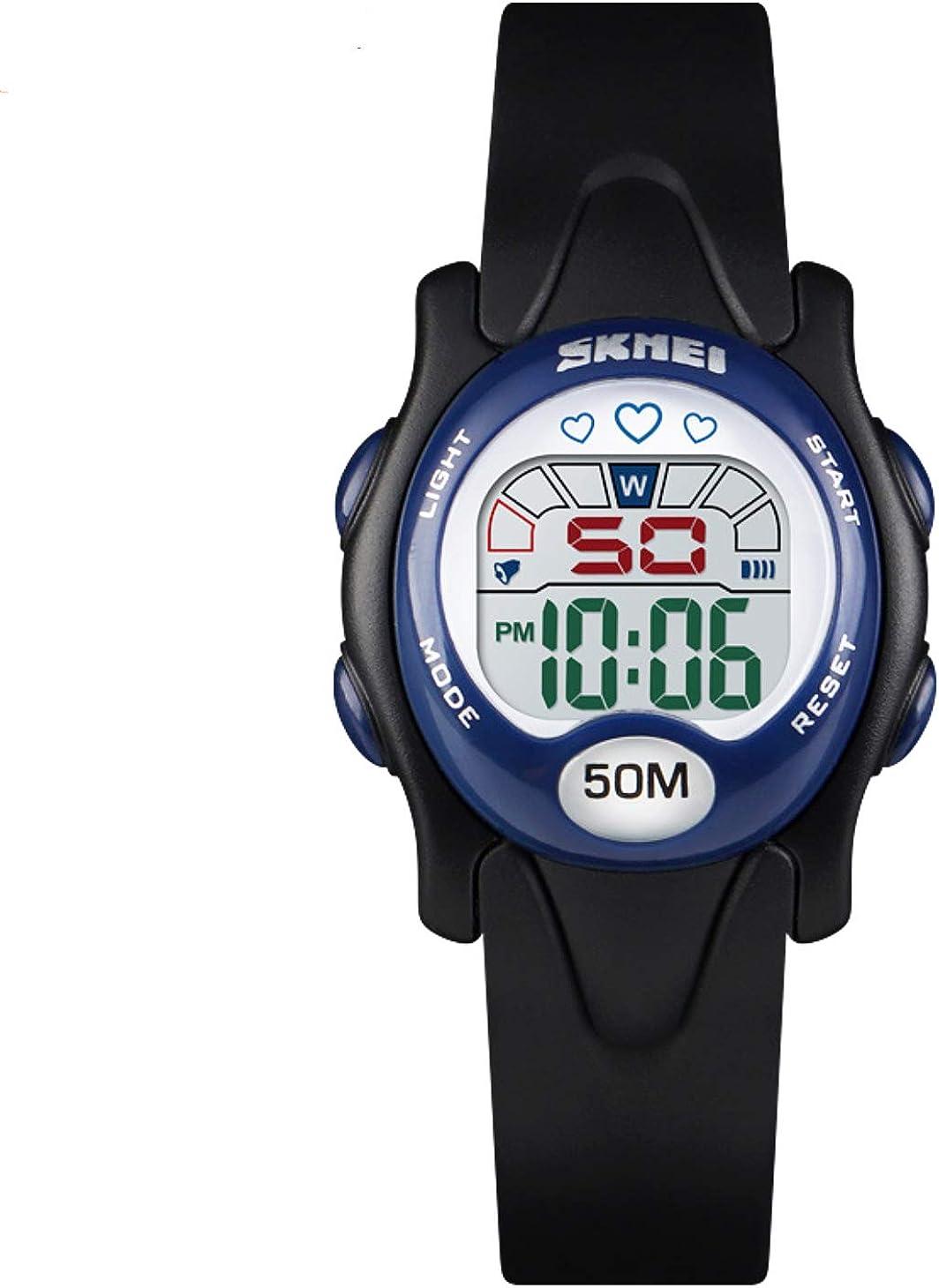 Relojes digitales para niños y niñas de 3 a 10 años, sumergibles a 50 m, con alarma y cronómetro, reloj de pulsera, regalo para niños pequeños y niñas: Amazon.es: Relojes