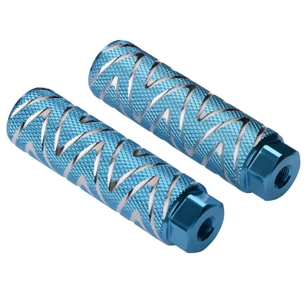 2 Pedales de aleaci/ón de aluminio antideslizantes para BMX Negro Helaryfreemear 2 unidades