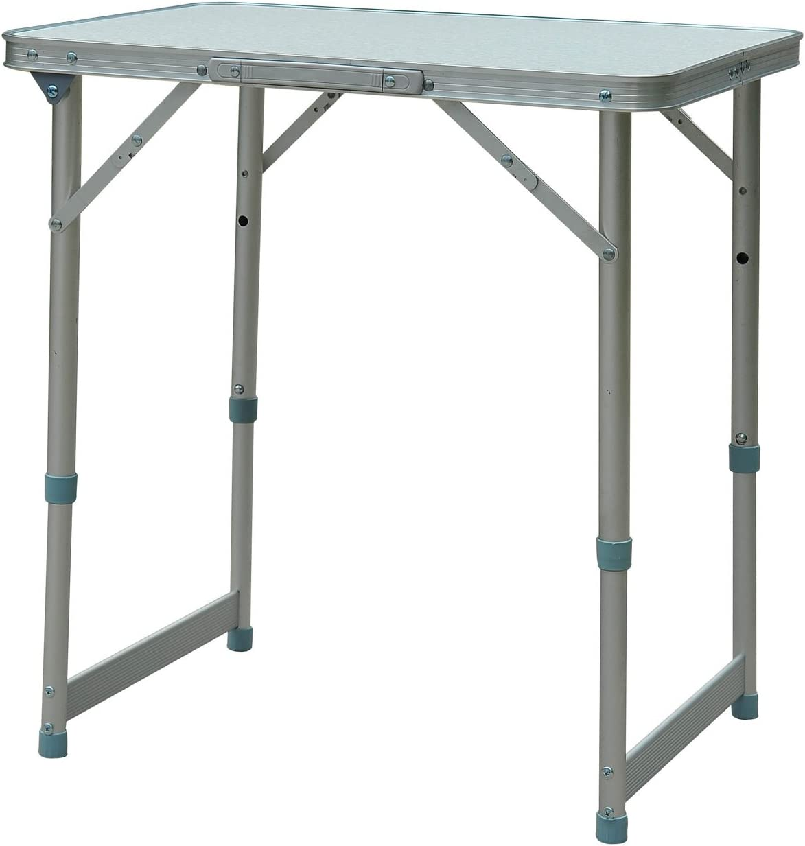 Outsunny Mesa Plegable de Picnic como una Maleta para Playa Camping 60x45x65cm Aluminio Altura Ajustable